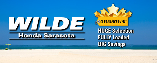 Wilde honda sarasota new car specials for Wilde honda sarasota fl