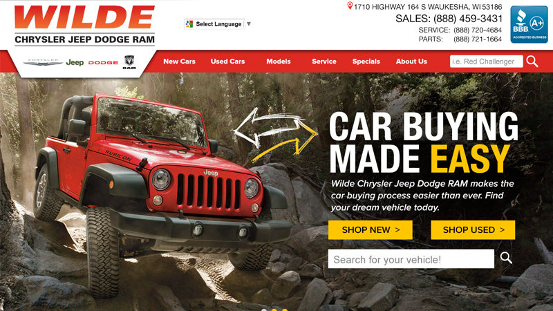Wilde Chrysler Jeep Dodge Ram Website