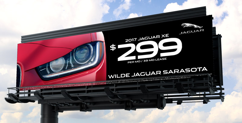 Wilde Jaguar Sarasota Billboard