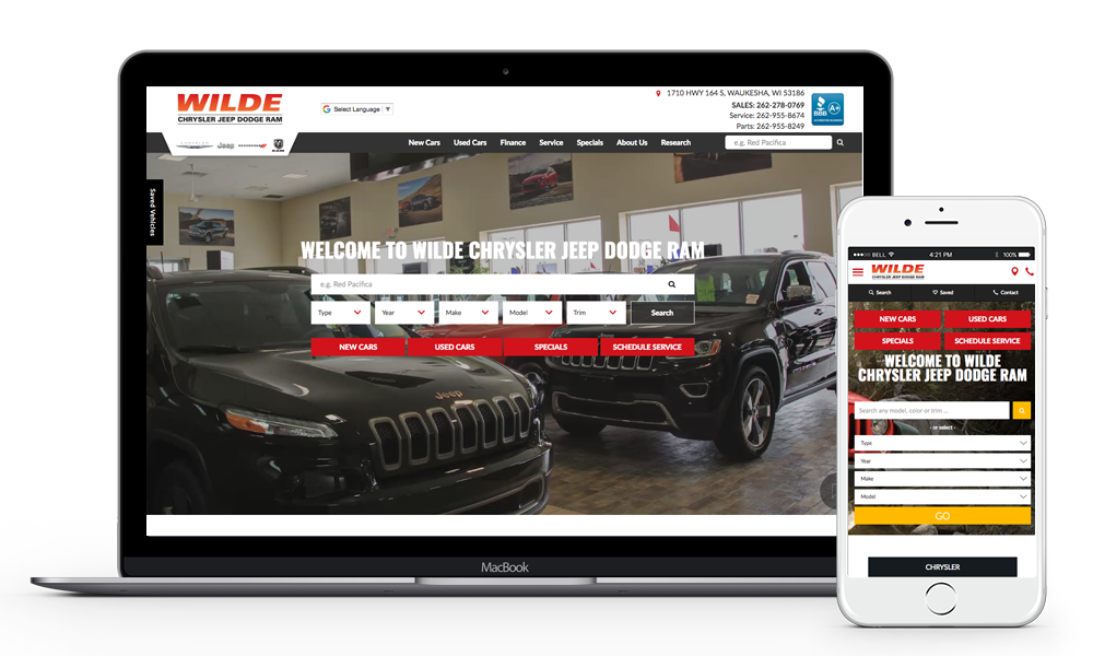 Wilde Chrysler Jeep Dodge Ram homepage