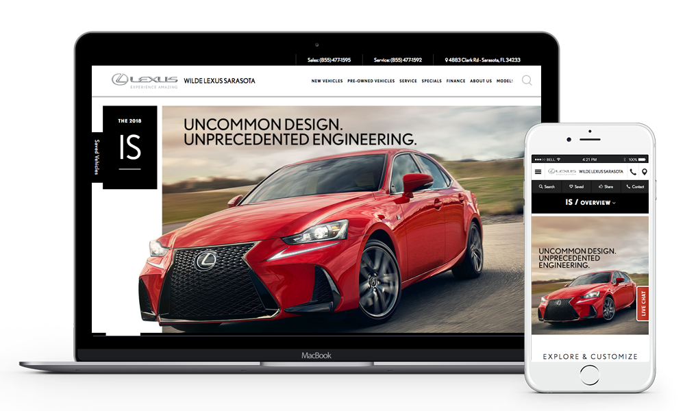 Wilde Lexus Sarasota Website